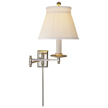 Shown in Silk Crown shade with Polished Nickel finish