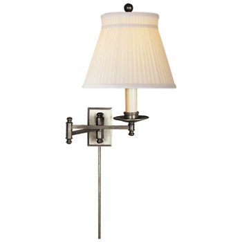 Shown in Silk Crown shade with Antique Nickel finish