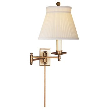 Shown in Silk Crown shade with Antique-Burnished Brass finish