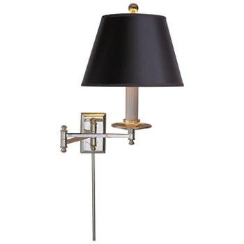 Shown in Black shade with Polished Nickel finish