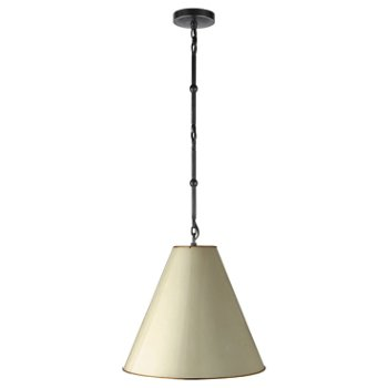 Shown in Antique White/Brass Interior, Bronze, Small