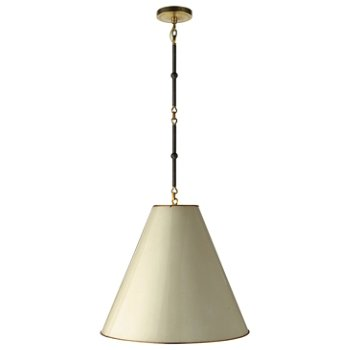 Shown in Antique White/Brass Interior, Bronze/Hand-Rubbed Antique Brass, Medium
