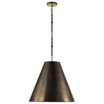 Shown in Bronze with White Interior and Bronze/Hand-Rubbed Antique Brass finish, Medium size
