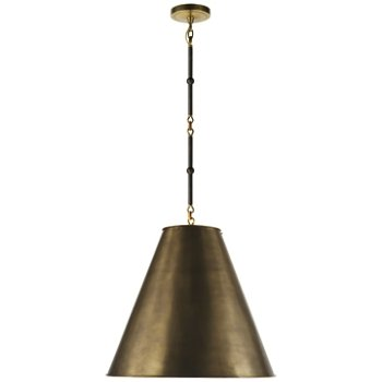Shown in Hand-Rubbed Antique Brass with White Interior and Bronze/Hand-Rubbed Antique Brass finish, Medium size