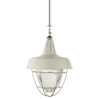 Henry industrial pendant with prismatic glass by visual for Andy singer visual comfort