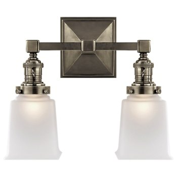 Shown in Antique Nickel finish, 2 Light
