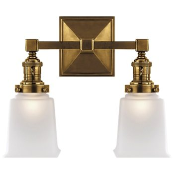 Shown in Hand-Rubbed Antique Brass finish, 2 Light