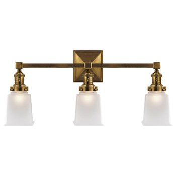 Shown in Hand-Rubbed Antique Brass finish, 3 Light