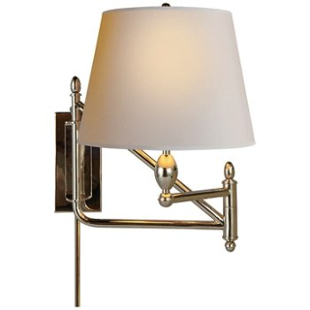 Paulo swingarm lamp by visual comfort at for Andy singer visual comfort