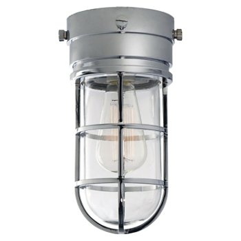 Shown in Clear Glass shade with Chrome finish