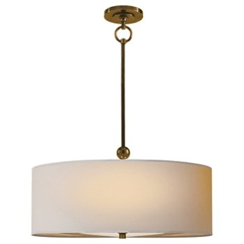 Shown in Natural Shade with Hand-Rubbed Antique Brass finish