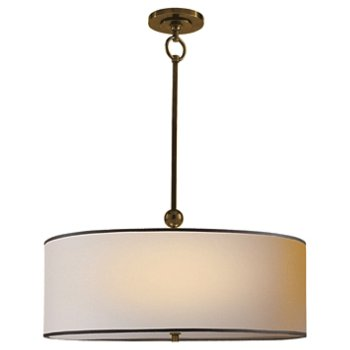 Shown in Natural Shade with Black Tape with Hand-Rubbed Antique Brass finish