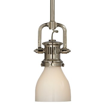 Yoke mini pendant with glass shade by visual comfort at for Andy singer visual comfort