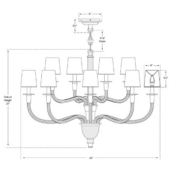 Vivian Two-Tier Chandelier by Visual Comfort at Lumens.com