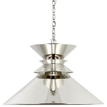 Shown in Polished Nickel with Polished Nickel Shade