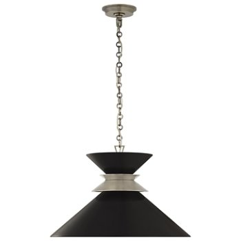 Shown in Antique Nickel with Matte Black Shade