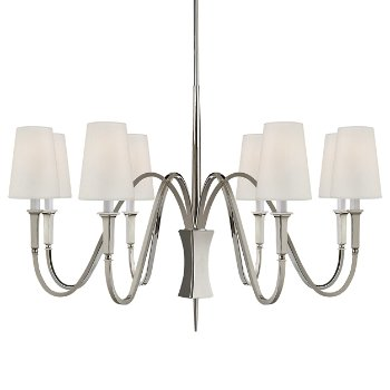 Shown in Polished Nickel finish, 6 Light
