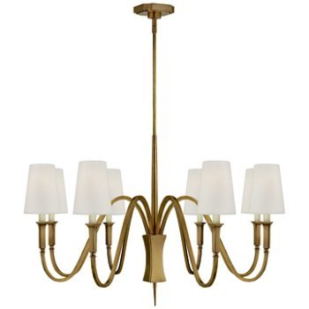 Shown in Hand-Rubbed Antique Brass finish, 8 Light