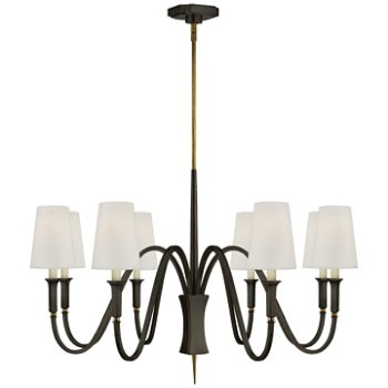 Shown in Bronze with Antique Brass finish, 8 Light
