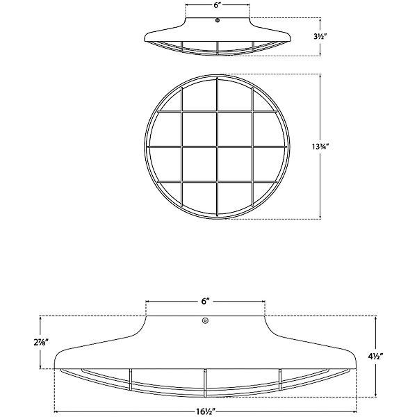 Dot Caged Flushmount