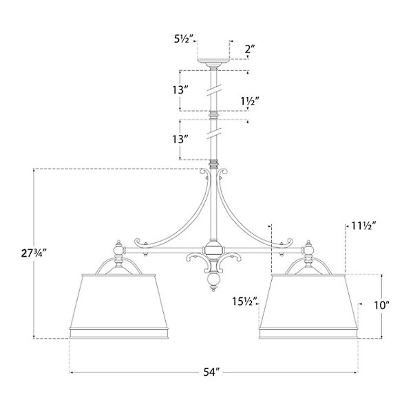 Sloane 2-Light Shop Linear Suspension