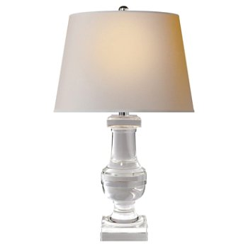 Shown in Crystal with Silk Pleated Shade finish