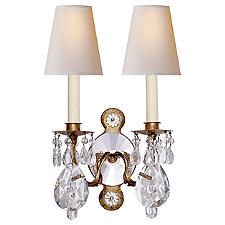 Yves Crystal 2-Light Wall Sconce