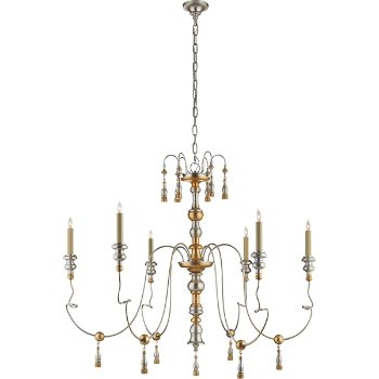 Shown in French Gild Silver and Gold finish