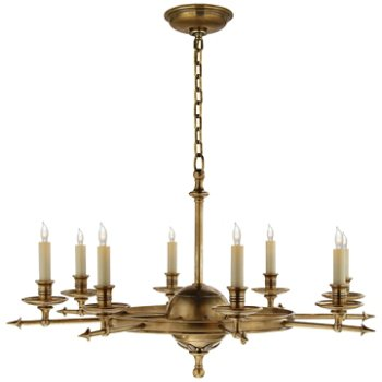 Shown in Antique-Burnished Brass, 8 Light