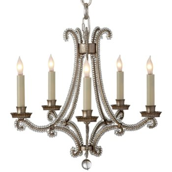 Shown in Burnished Silver Leaf finish, Mini size