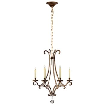 Shown in Gilded Iron finish, Small size