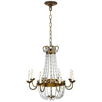 Shown in Antique-Burnished Brass finish, Medium size