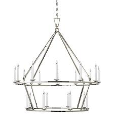 Darlana Extra-Large Two-Tiered Ring Chandelier