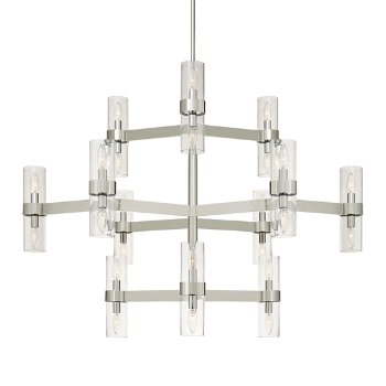 Shown in Polished Nickel finish with Clear glass