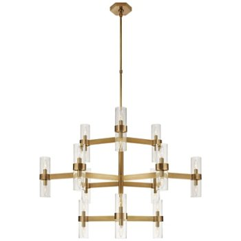 Shown in Hand-Rubbed Antique Brass finish with Clear glass