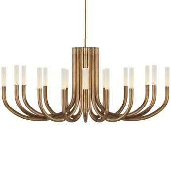 Shown in Antique-Burnished Brass with Etched Crystal finish