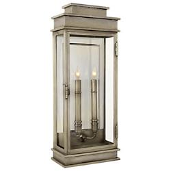 Linear Lantern Tall sconce Item (Antique Nickel) - OPEN BOX