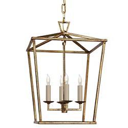 Darlana Lantern Pendant (Gilded Iron/Small)-OPEN BOX RETURN
