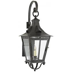 Orleans Small Bracketed Lantern (French Rust/Clear)-OPEN BOX