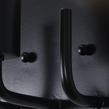 Shown in Black finish, Detail view
