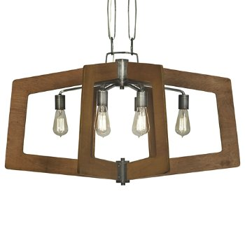 Shown in Steel with Wheat finish, 6 Light