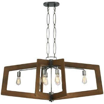 Shown in Steel with Wheat finish, 8 Light