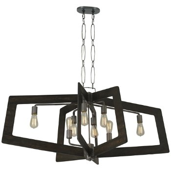 Shown in Steel with Zebrawood finish, 8 Light