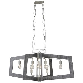 Shown in Silverado/Grey Wood finish, 8 Light