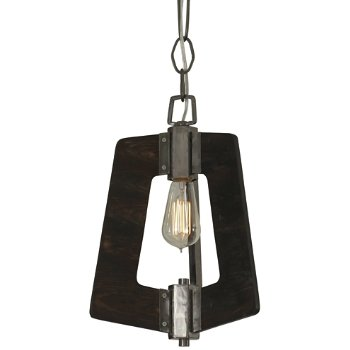 Shown in Steel with Zebrawood finish, lit