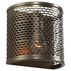 Lit- Mesh Test Wall Sconce (New Bronze) - OPEN BOX RETURN