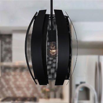 Shown in Black finish, lit