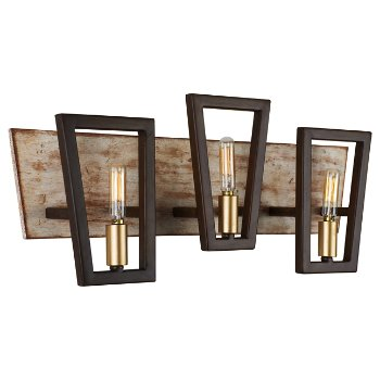 Shown in Dark Oak finish, 4 Light
