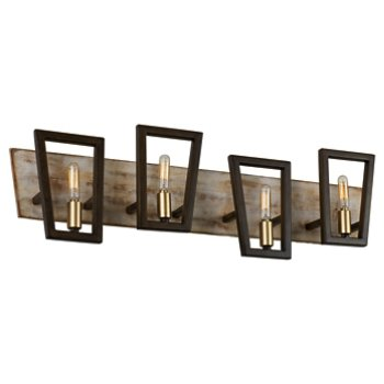 Shown in Dark Oak finish, 3 Light