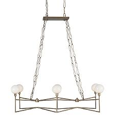Bodie LED Linear Suspension with Opal White Glass